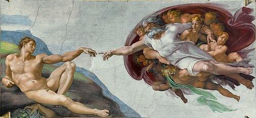 Miquel àngel: volta de la capella sixtina  Giorgione: La tempesta