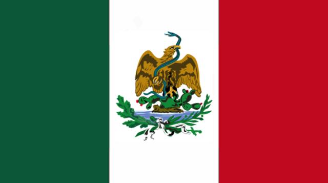 Segunda bandera de Porfirio Díaz