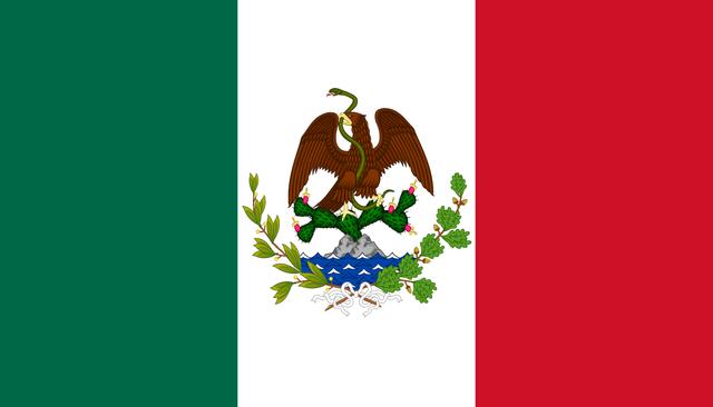 Bandera del Segundo Imperio Mexicano