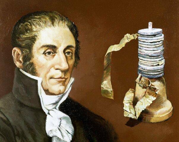Invento la pila eléctrica