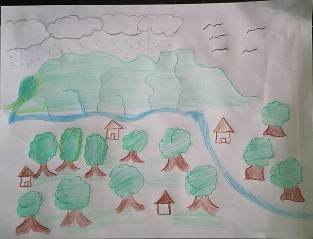 la comunidad era muy verde con ríos rico en flora y fauna