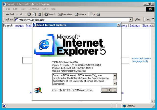 internet Explorer IE5