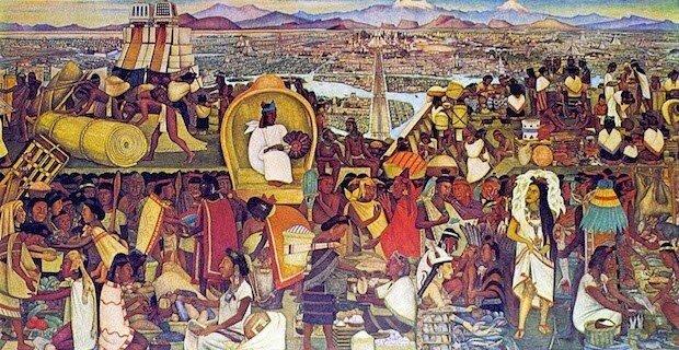 Inicios en el comercio Azteca