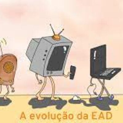 Evolução do EAD no Brasil timeline