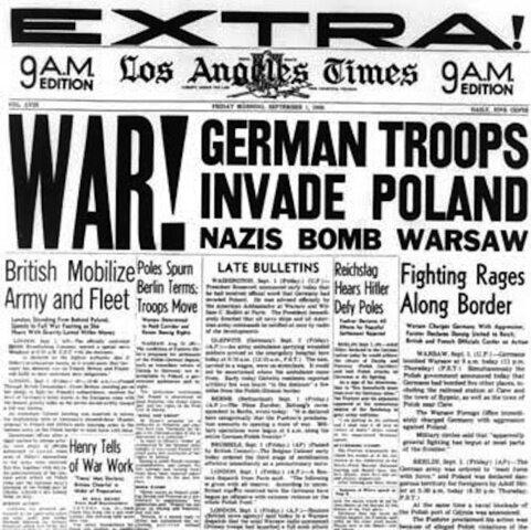 Reino Unido y Francia declaran la guerra a Alemania