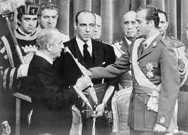 Procalmation of Juan Carlos de Borbón king of Spain.