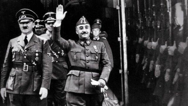 Franco y Hitler se reúnen en Hendaya
