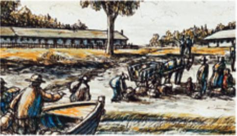 Les premiers établissemtns de quarantaine à  la grosse île