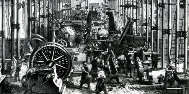 Evolución tras la revolución industrial en los años 30