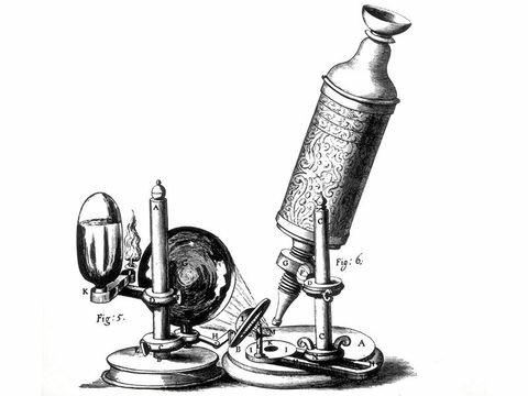 Edad Moderna avance tecnológico: Microscopio compuesto.