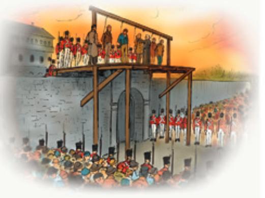 Pendaison de cinq patriotes du Bas-Canada