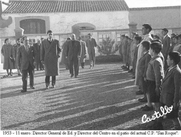 El director General de Educación Visita a los alumnos del San Roque