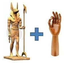 Estatuas con brazos mecánico
