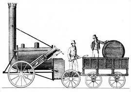 primera locomotora de vapor de la Historia.