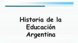 Proceso histórico y educativo en Argentina. timeline