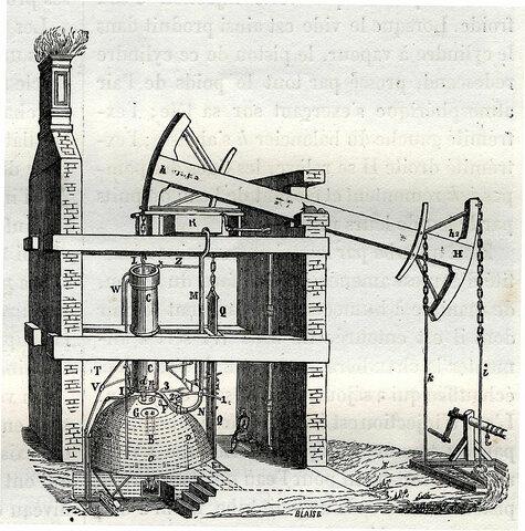 Invento del motor a vapor