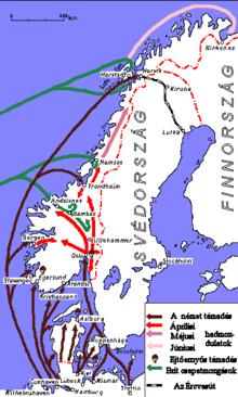 Invasión de Noruega y Dinamarca