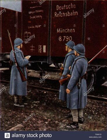 Ejército francés ocupa las minas de carbón alemanas.