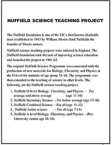 Plan Nuffield para la enseñanza de las ciencias