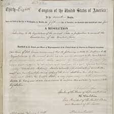 Congress passes the 13th Amendment