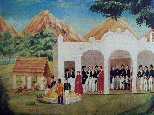 Iturbide, O'Donojú y Novella se encuentra en La Patera, Villa de Guadalupe