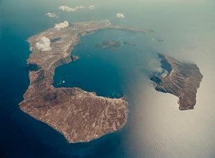 explosión de la isla de Thera