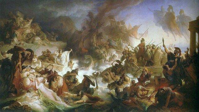Batallas de Salamina y las Termópilas