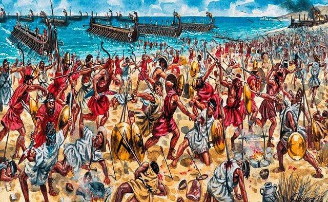 Atenas se rinde. Fin de la Guerra del Peloponeso.