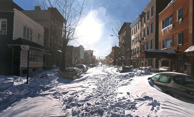 Snow route, Williamsburg