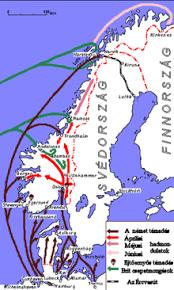 invasión a los países de  Dinamarca y noruega