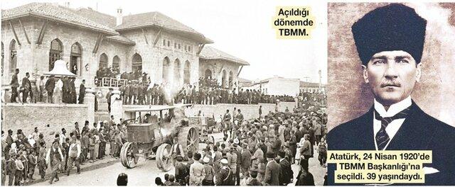 Mustafa Kemal, Ankara'da Türkiye Büyük Millet Meclisi'ni açtı.