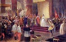 Ascensión al trono, símbolo de la caída de la dominación decimonónica