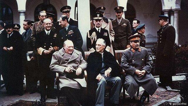 Conferencia de Yalta (Roosevelt, Churchill, Stalin)