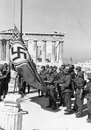 las fuerzas  alemanas entraron a Atenas
