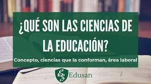 Definición de ciencias de la educación
