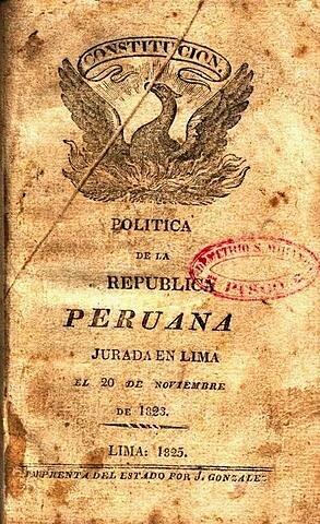 Primera Constitución en el Perú
