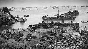 ejército  estadounidense desembarco en la isla de  okinawa