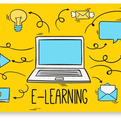 Evolución E-learning timeline