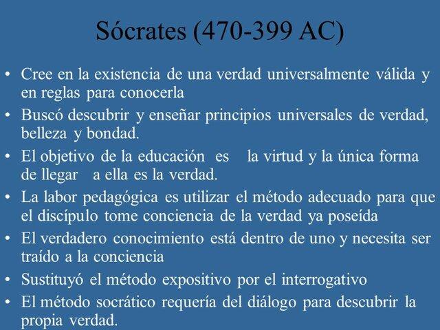 PEDAGÓGICAS DE SÓCRATES