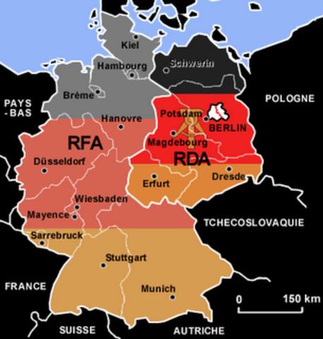 División de Alemania en dos Estados: RDA y RFA