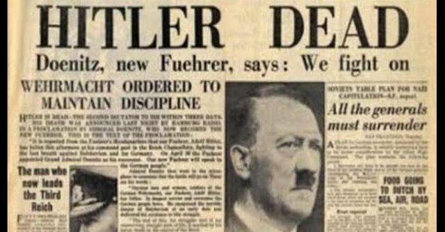Suicidio de Hitler y Eva Braun