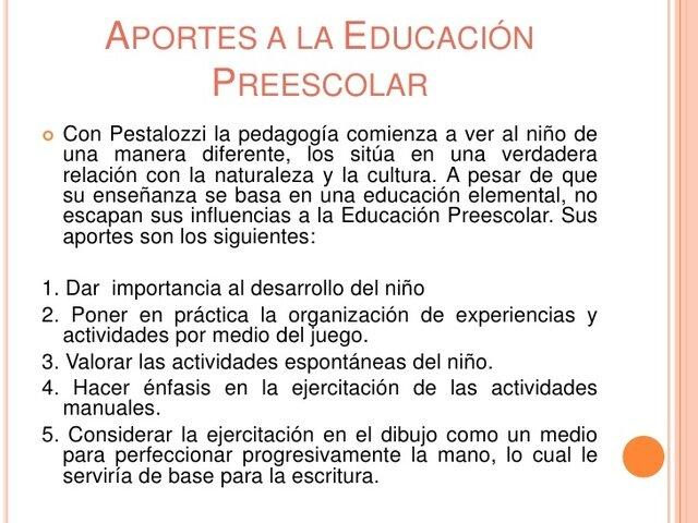 Pestalozzi pedagogía moderna
