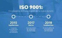 Certificación pasa a la versión ISO 9001