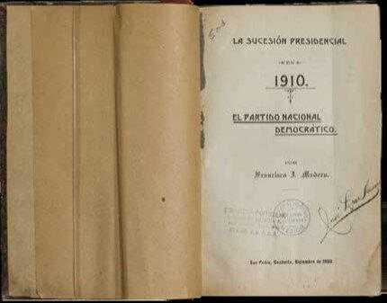 1908-Libro la sucesión presidencial de 1910