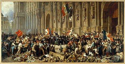 Oleada revolucionaria en Francia.