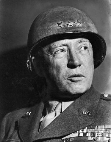 """George Patton. (1885-1945). """"General Sangre y Agallas""""."""
