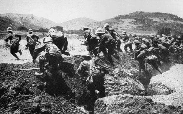 Troops on the Gallipoli peninsula