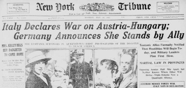 Italy declares war