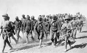 Allied troops move through Mesopotamia