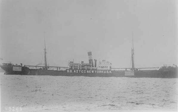Germany sinks the SS Aztec